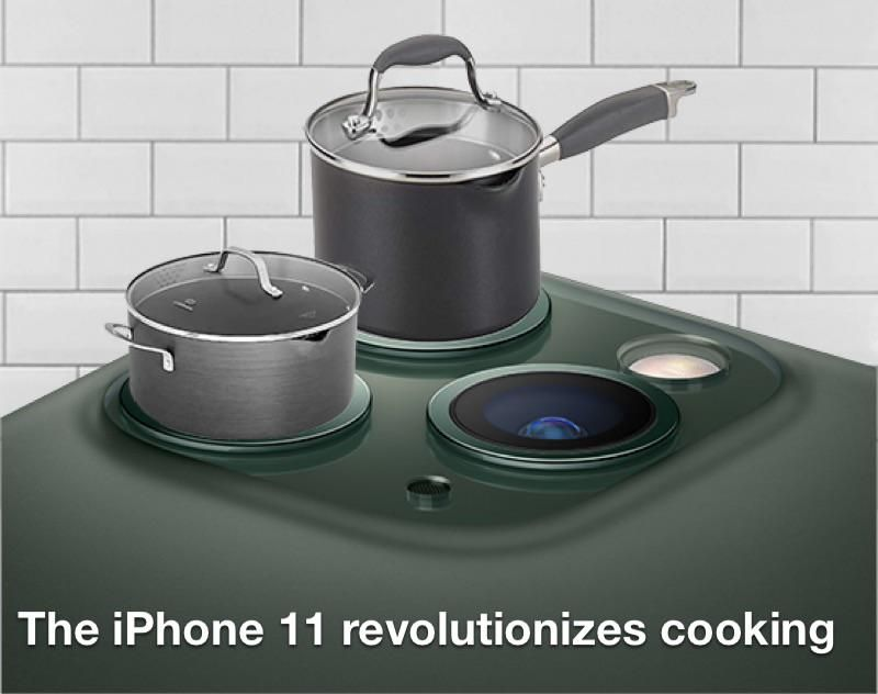 The iPhone 11 revolutionizes cooking