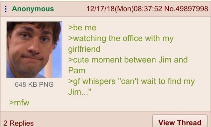 Anon watches The Office