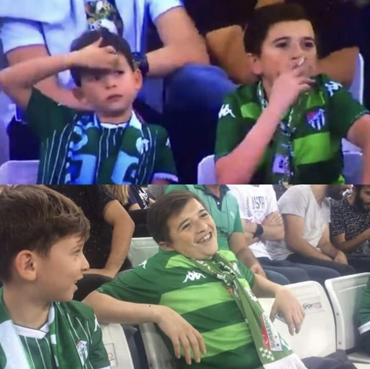 """""""Child"""" was all over the news after being spotted smoking at a football match......he's actually a 36yr old Turkish man."""