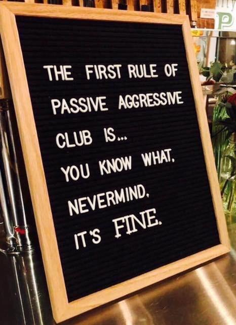 Passive aggressive club
