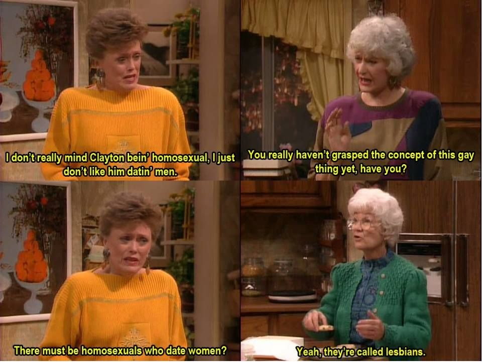 Blanche doesn't grasp the concept of homosexuality
