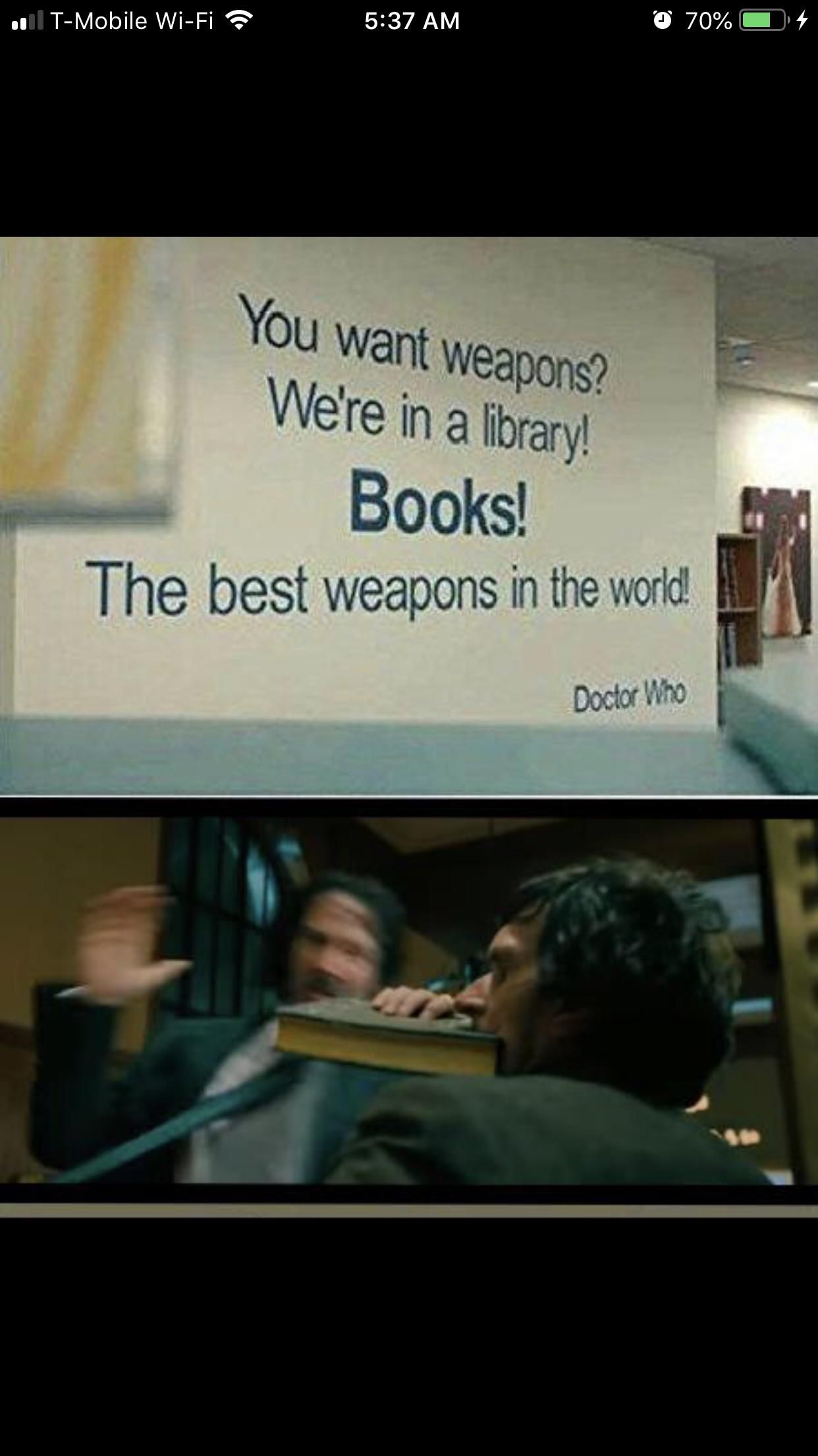 """Everything is a weapon"" - Keanu Reeves"