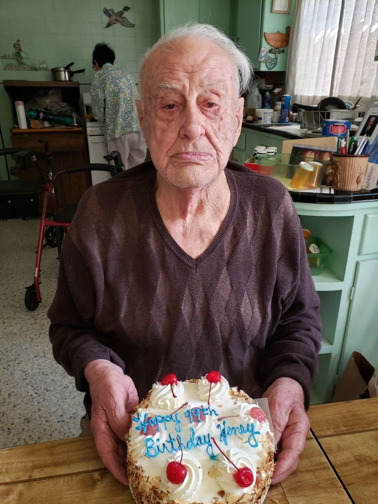 My grandfather turned 99 today!