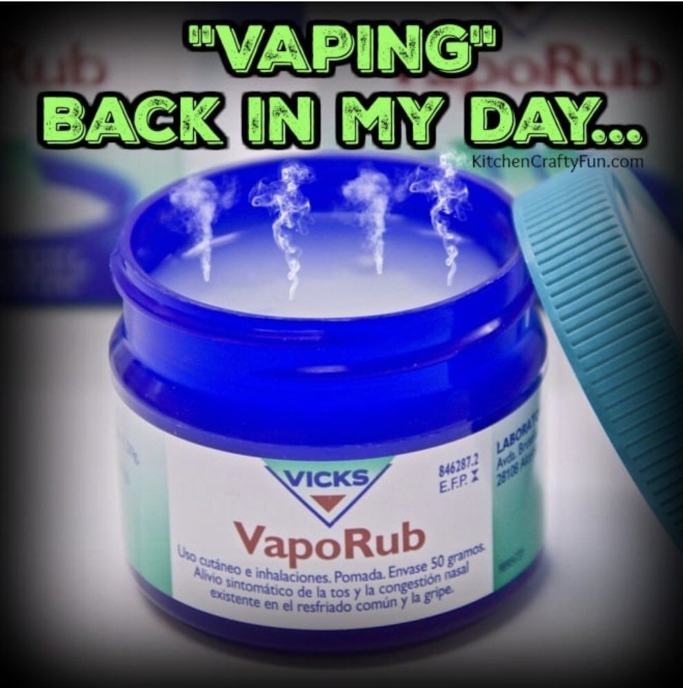 Vaping was always cool!