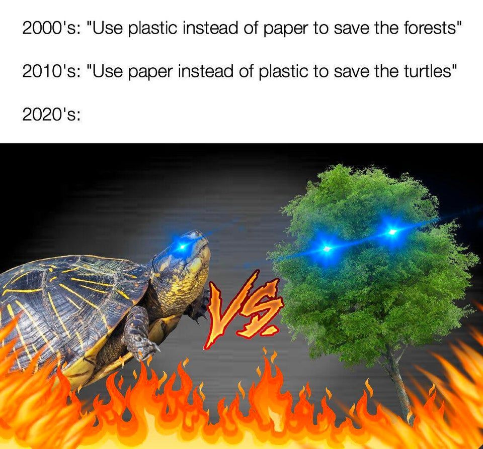 just burn the amazon and throw more plastic into the ocean so both sides win