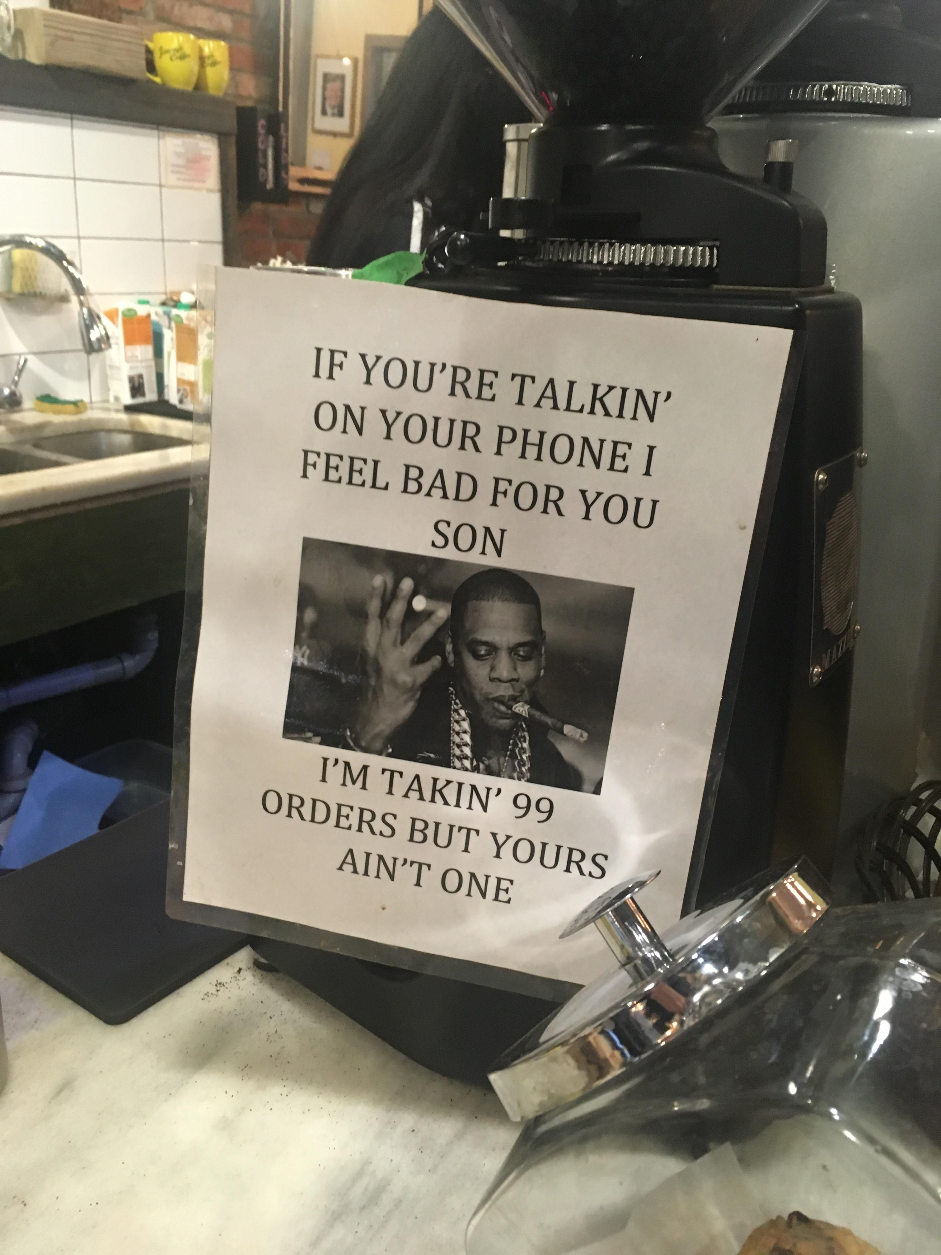 In my local coffee shop
