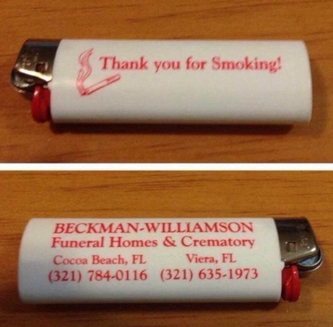 The information on this lighter will eventually come in handy