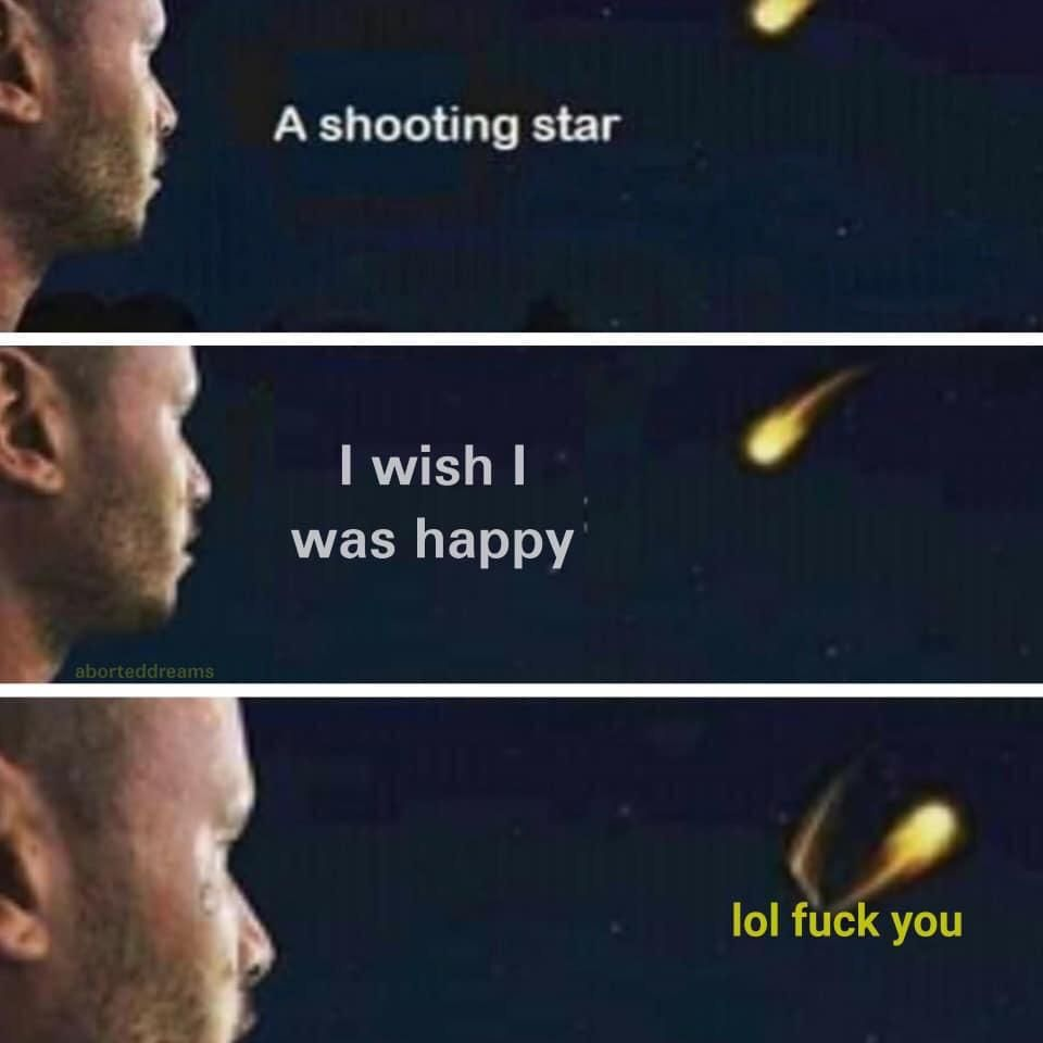 Oh look a shooting star