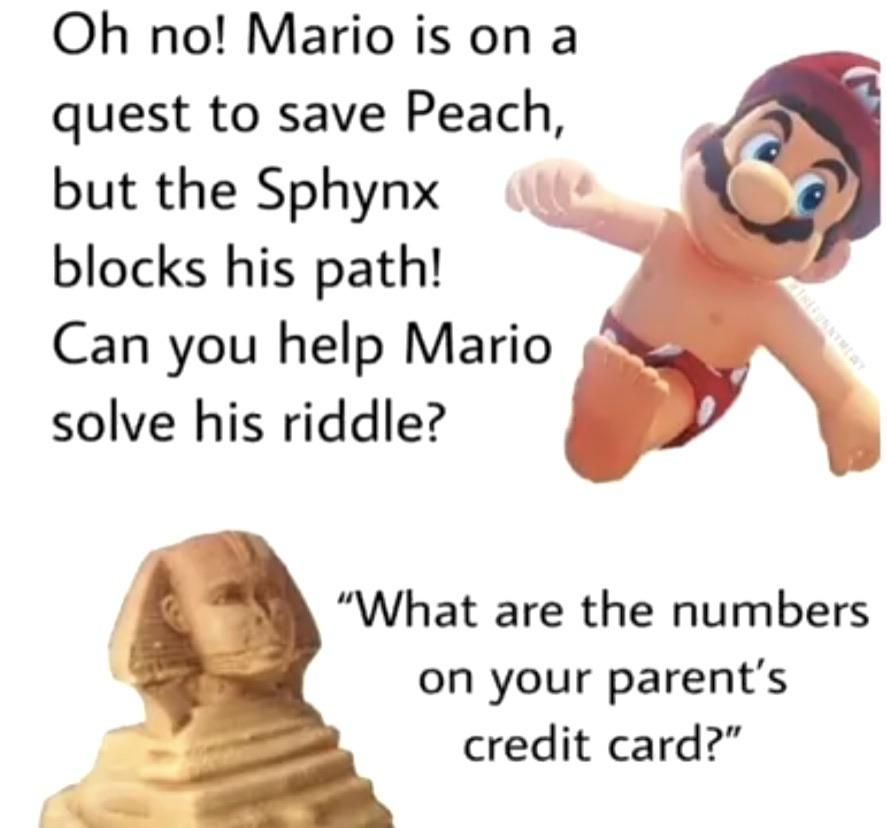 Will you help Mario??!