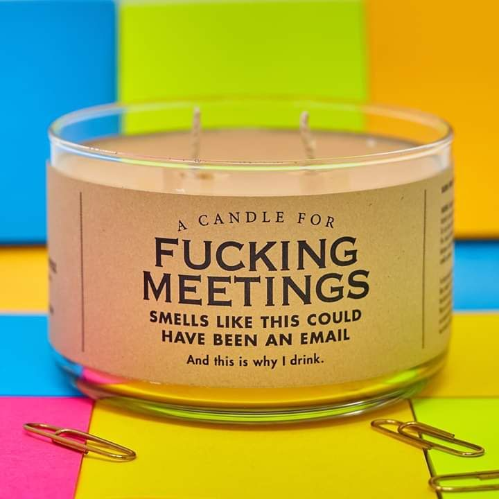 A candle for meetings