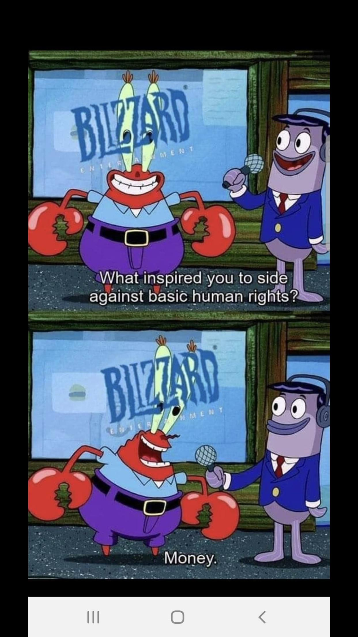 The state of our zeitgeist, as foreshadowed by Mr. Krabs.