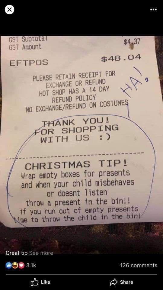 This receipt my dad found