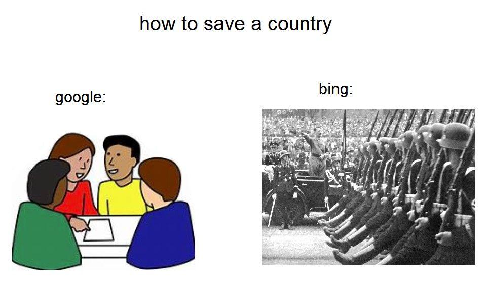 Bing keeping it real