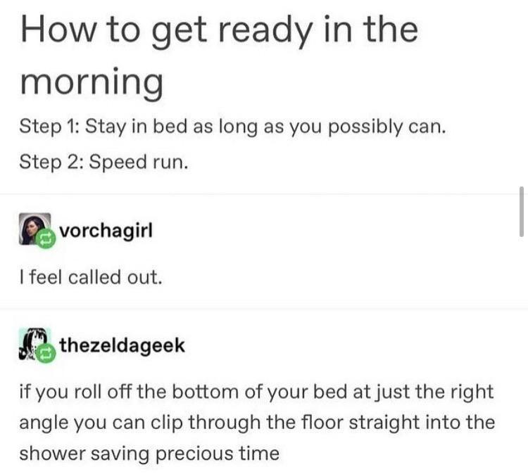 Speed run anything irl