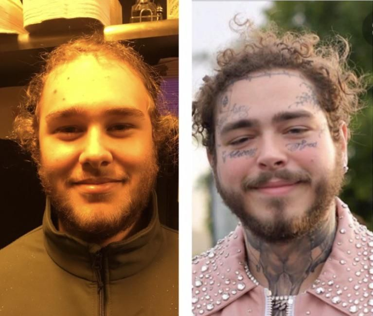 This is my friend... we call him pre-malone