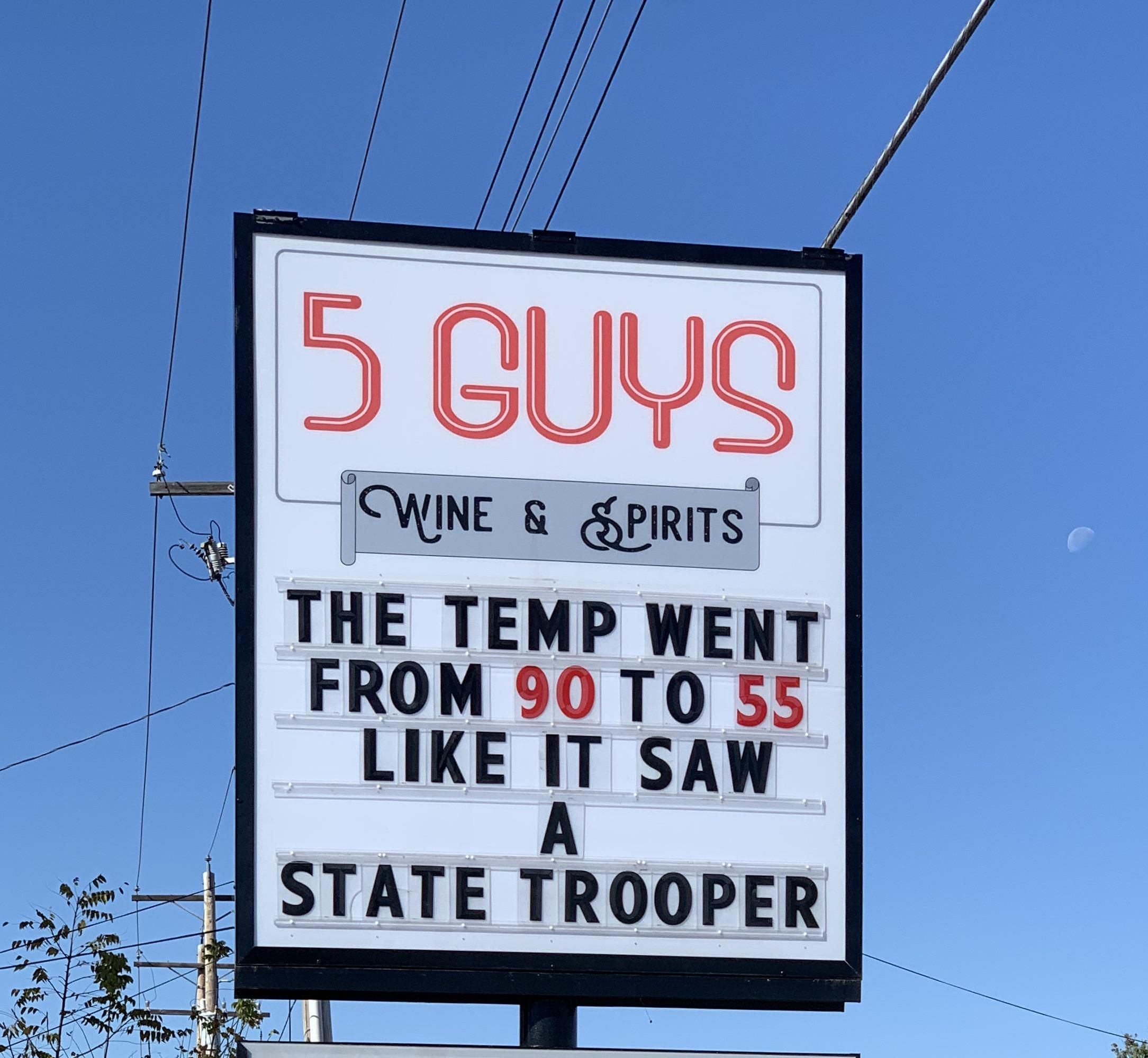 New sign at my local liquor store.