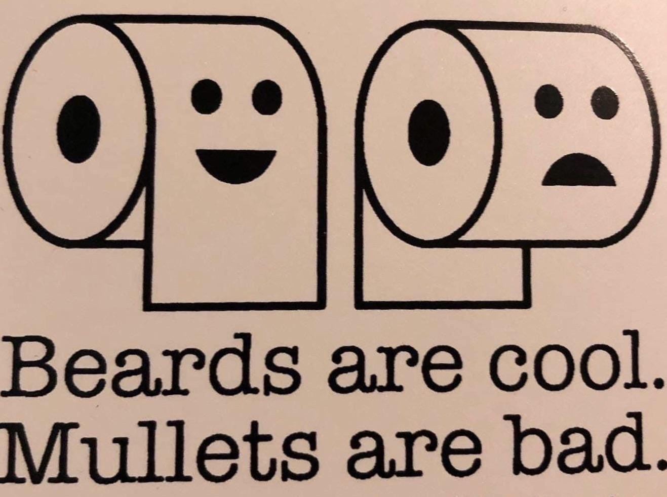 Beards vs Mullets