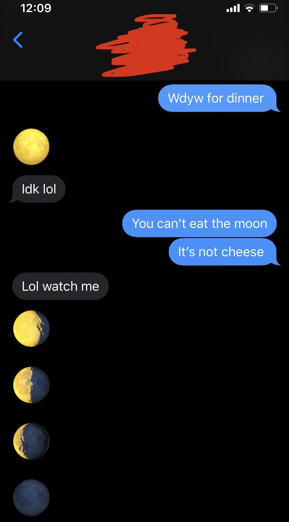 My husband thinks he's funny.