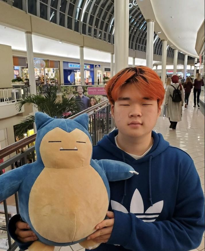 Our friend got a Snorlax plush and we thought it looked like one of our other friends.
