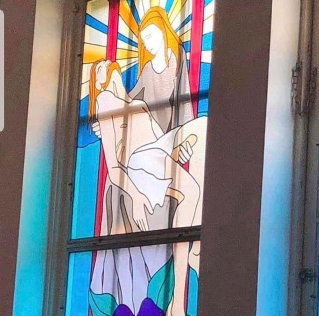 The stained glass window guy really didn't think this through