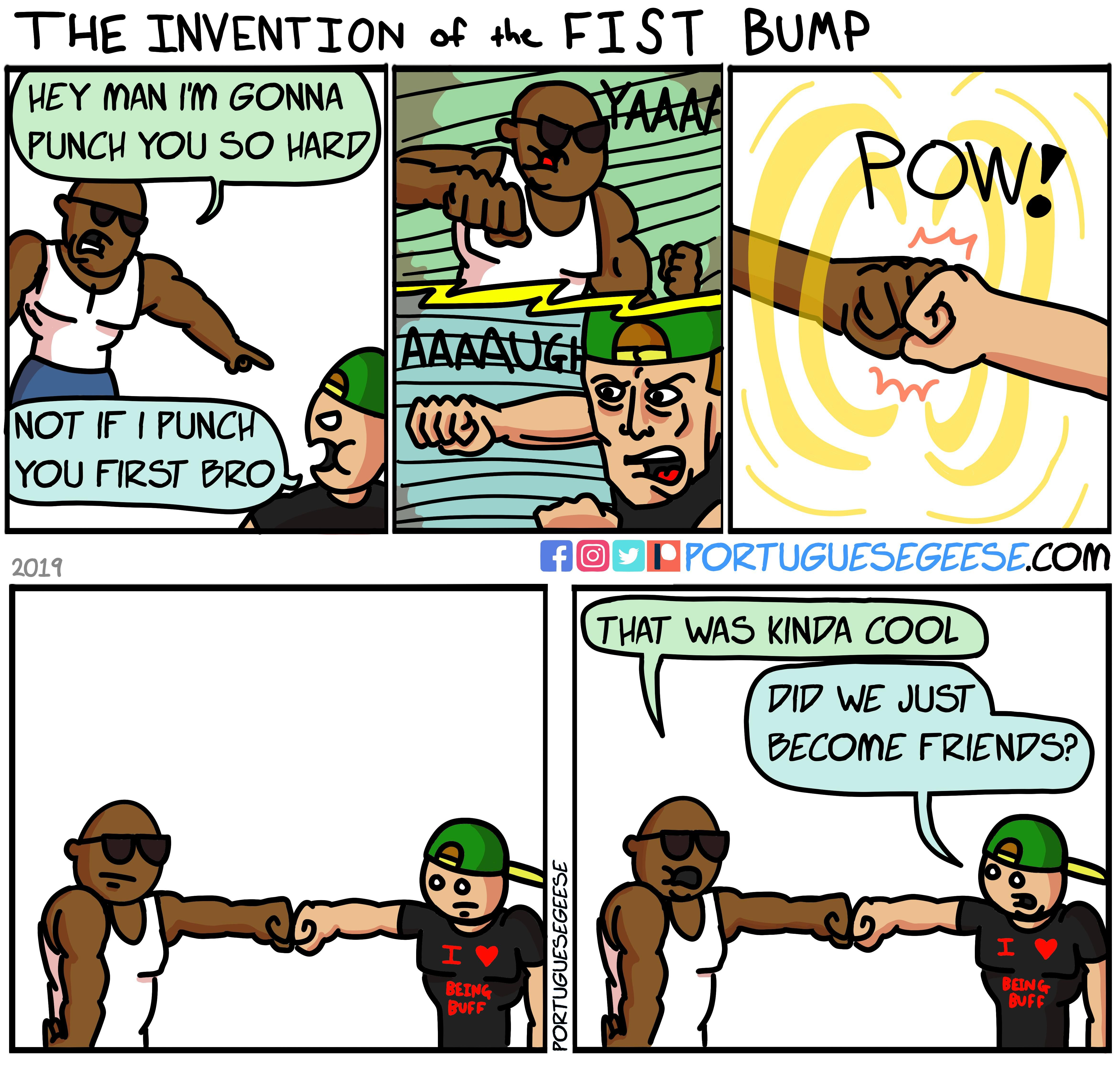 The Invention of the Fist Bump