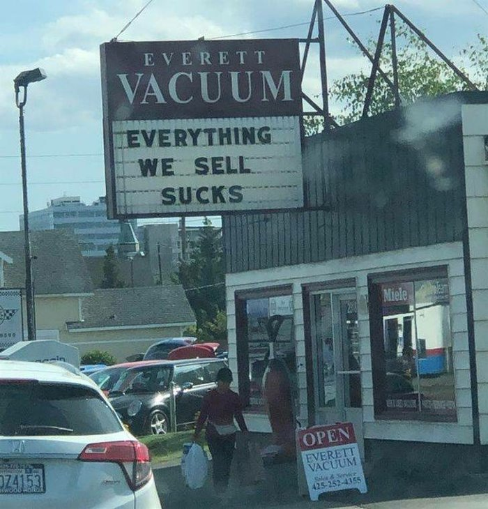 Their vacuums truly suck!