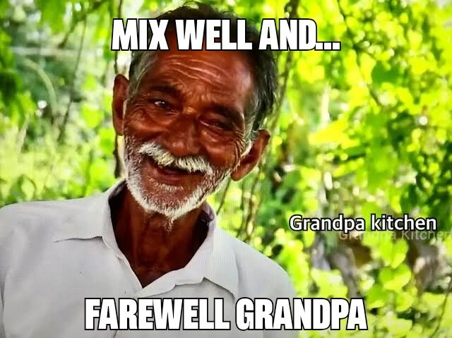 You are probably cooking onions this time... GrandpaKitchen #you'llbemissed