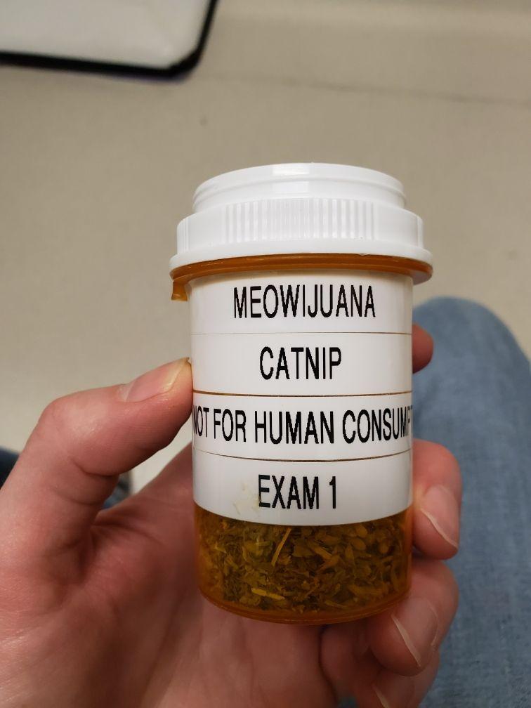 How my local vet labels thier catnip.