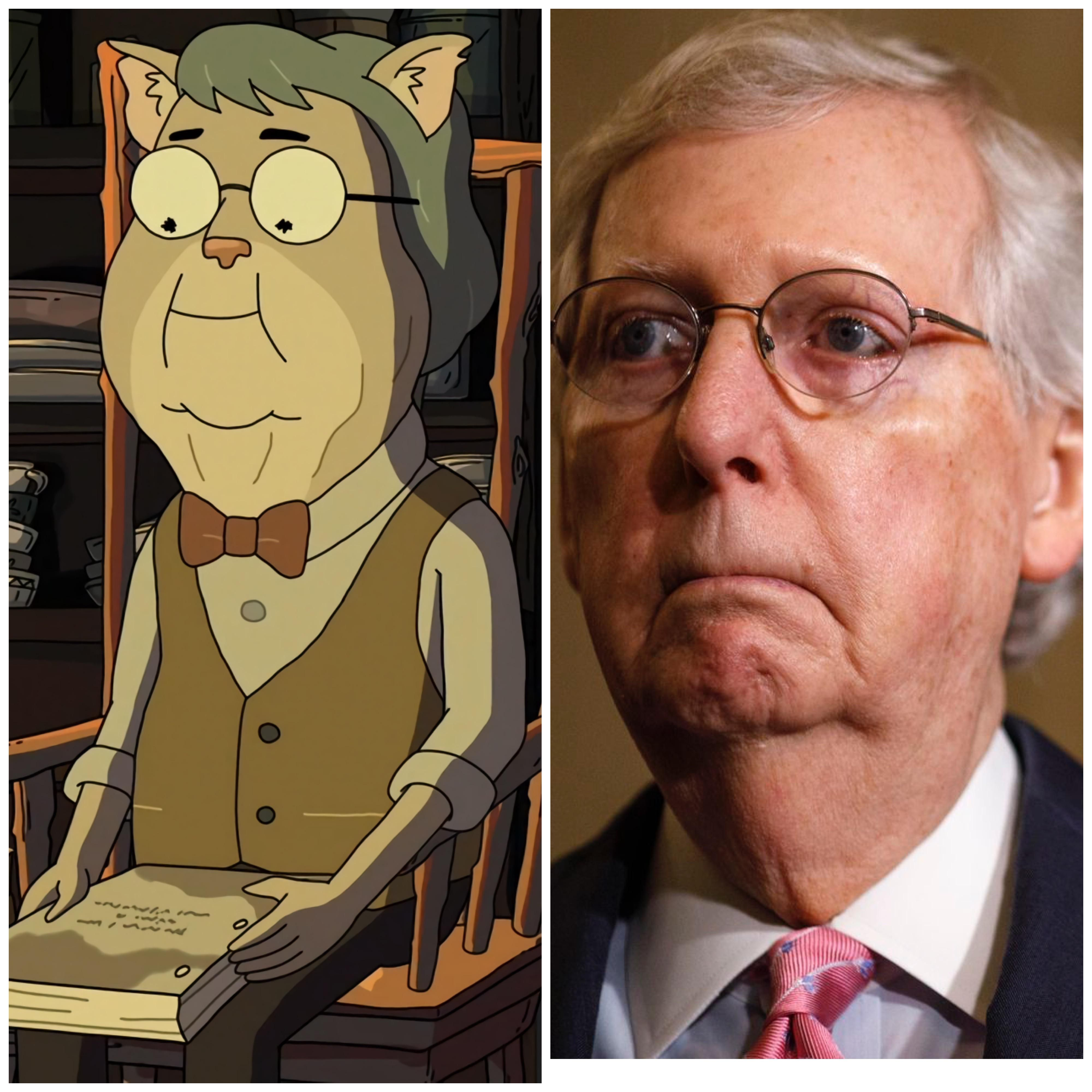 """Is it just me or does Mitch McConnell look like the Lighthouse Keeper from """"Look Who's Purging Now"""""""