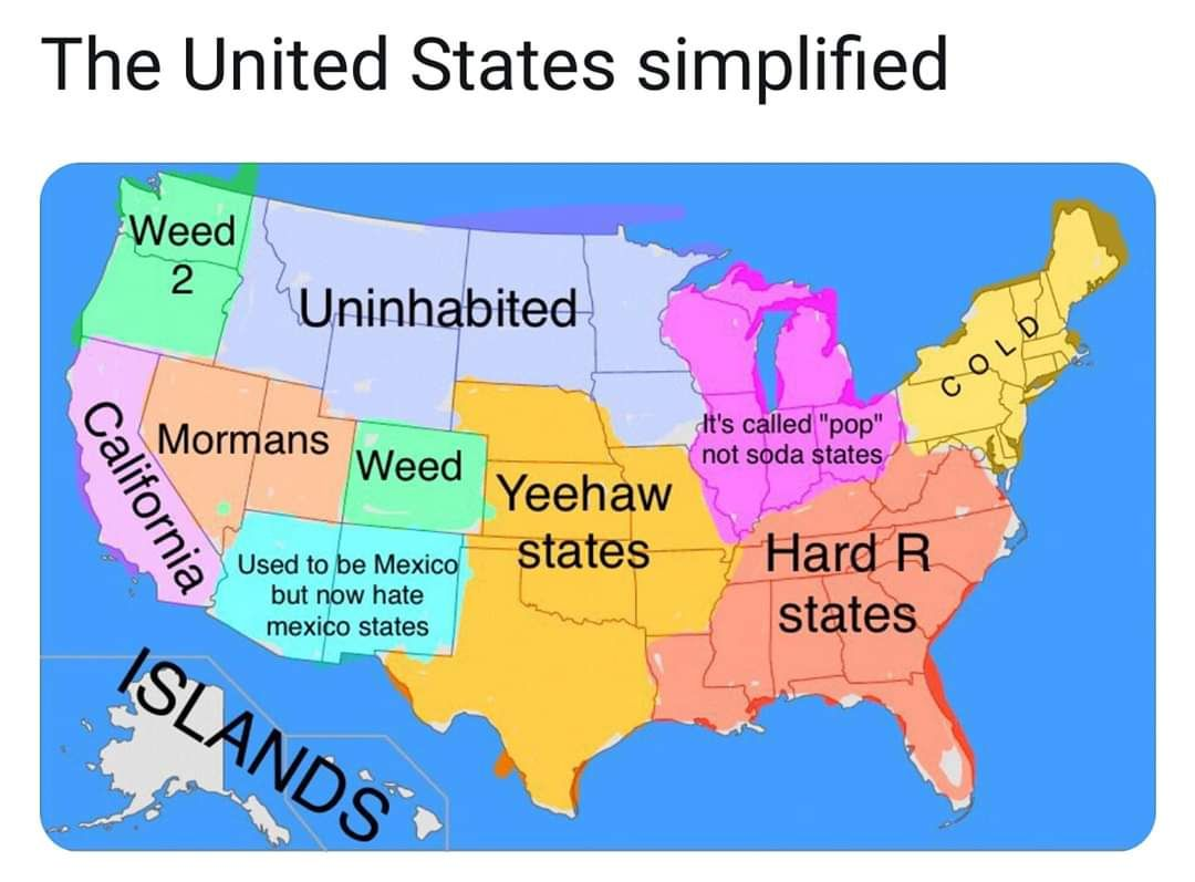 The United States simplified.