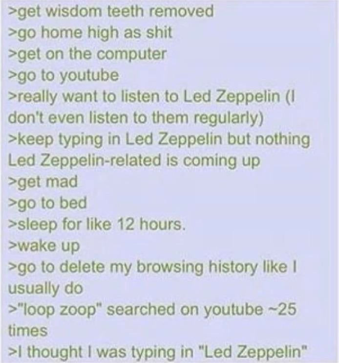 Anon wants to listen to some loop zoop