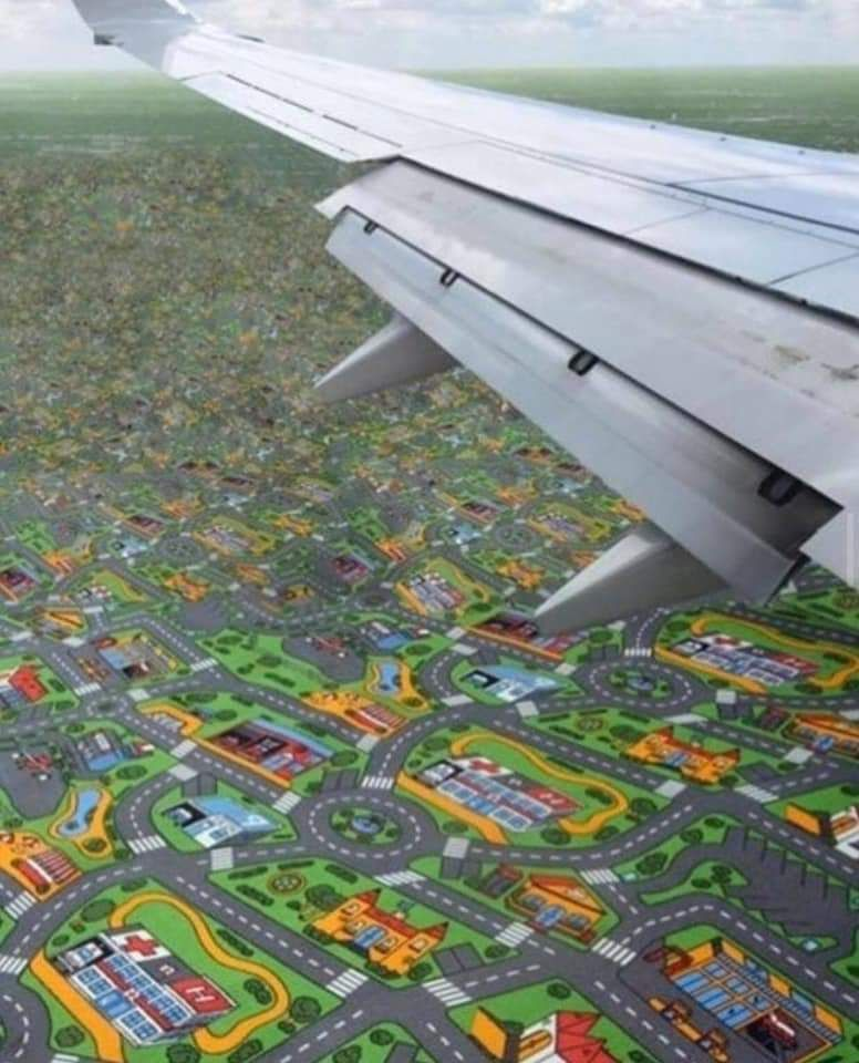 Flying over the streets I grew up on