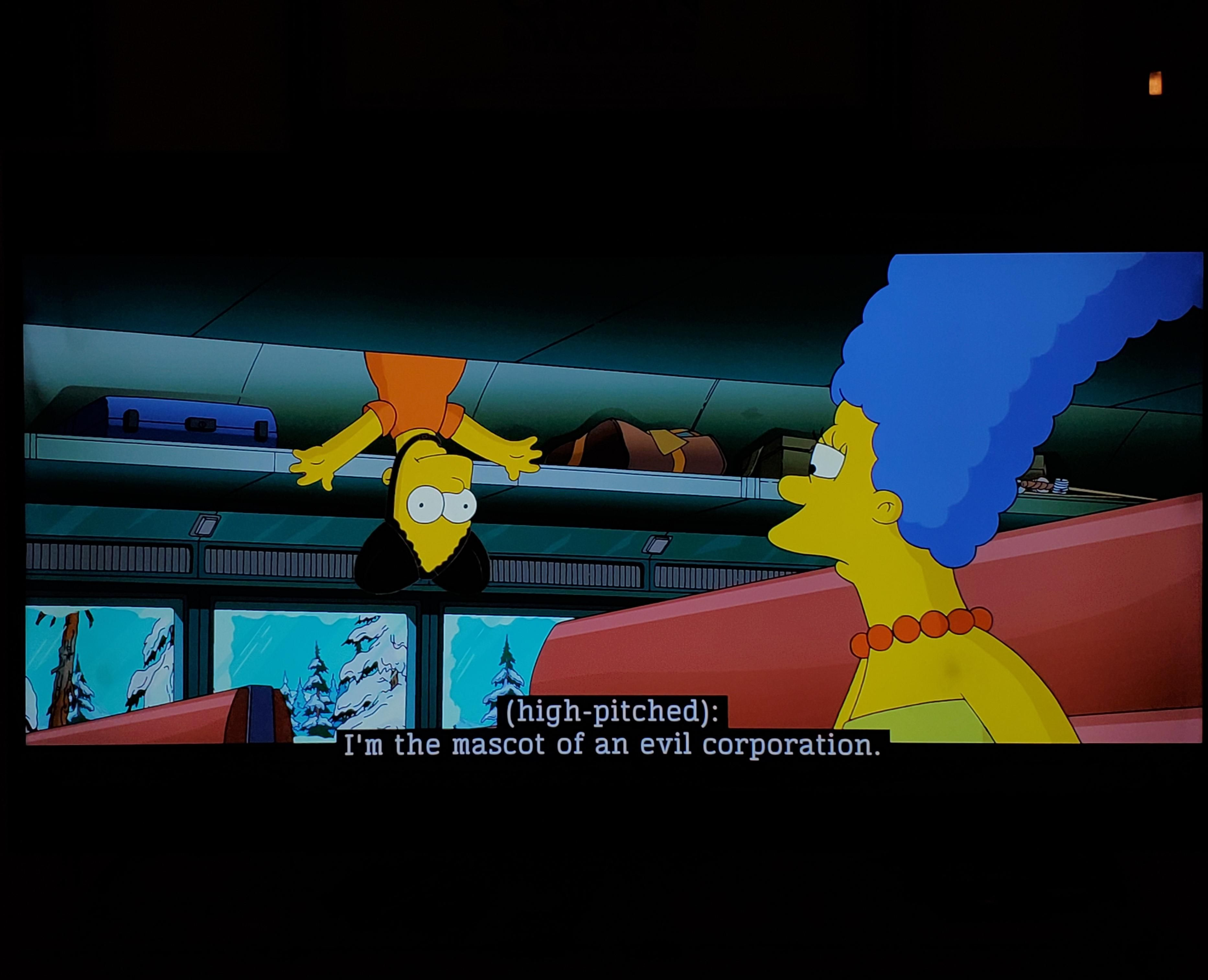 So I was watching The Simpsons Movie on Disney +...
