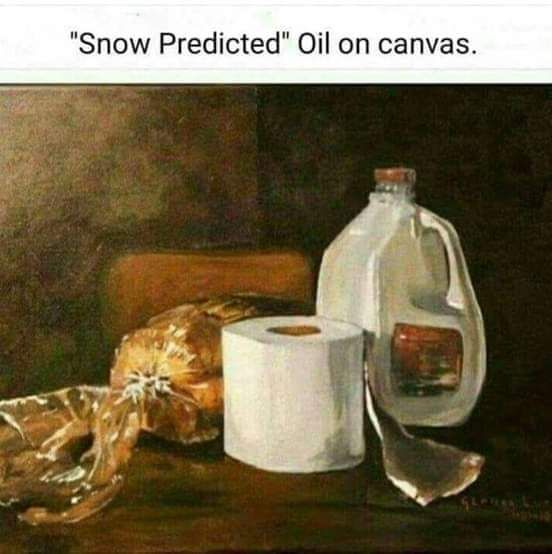 Snow's a comin