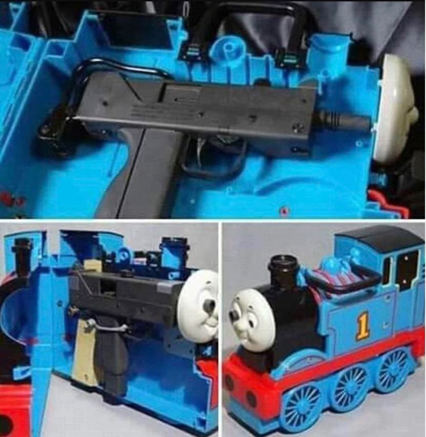 And just when I thought Thomas the tank engine couldn't get any more gangsta