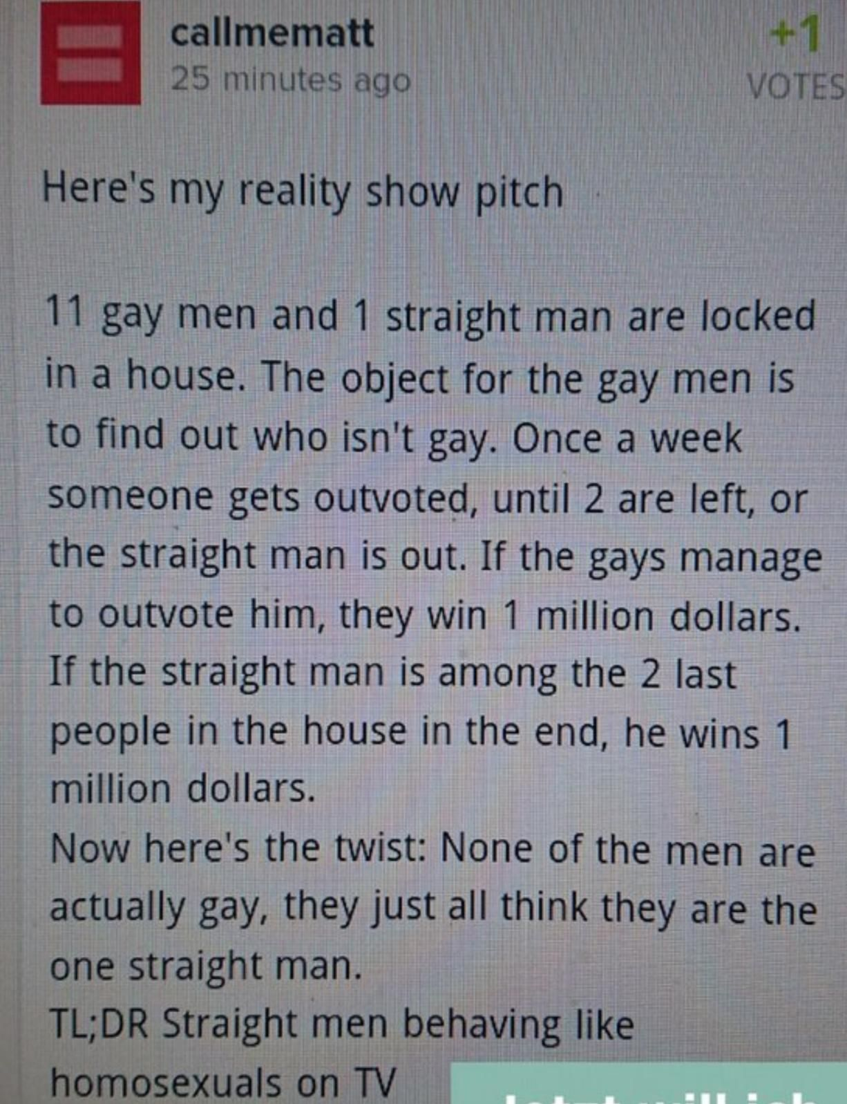 Straight gays TV-show
