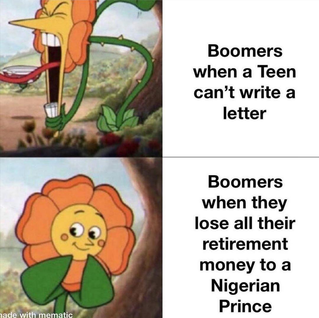 haha, ok boomer