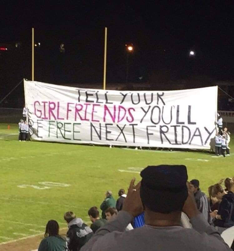 Taking high school football playoff trash talk to a whole new level.