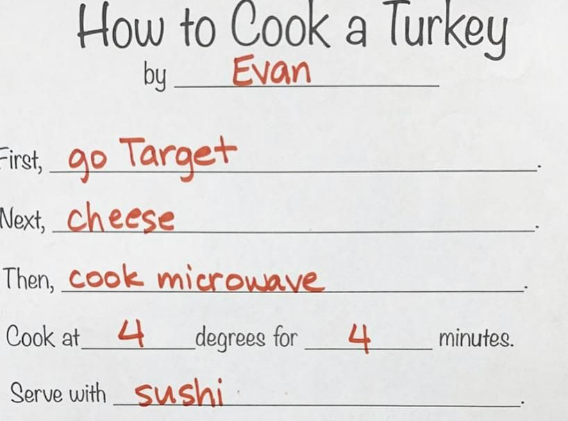 I'm going to Evan's for Thanksgiving