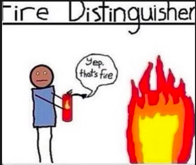 Nothing interesting, just your normal everyday fire distinguisher.