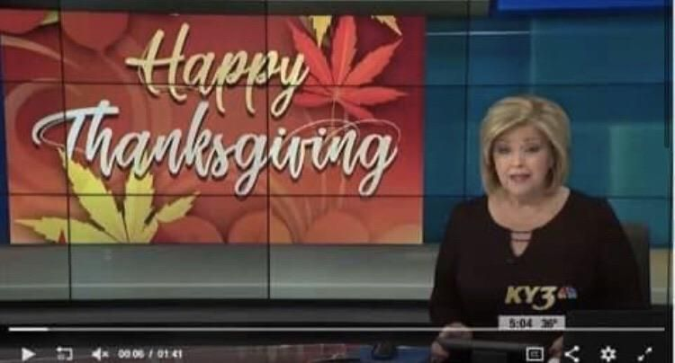 My local news station picked the wrong leaves for their Thanksgiving sign