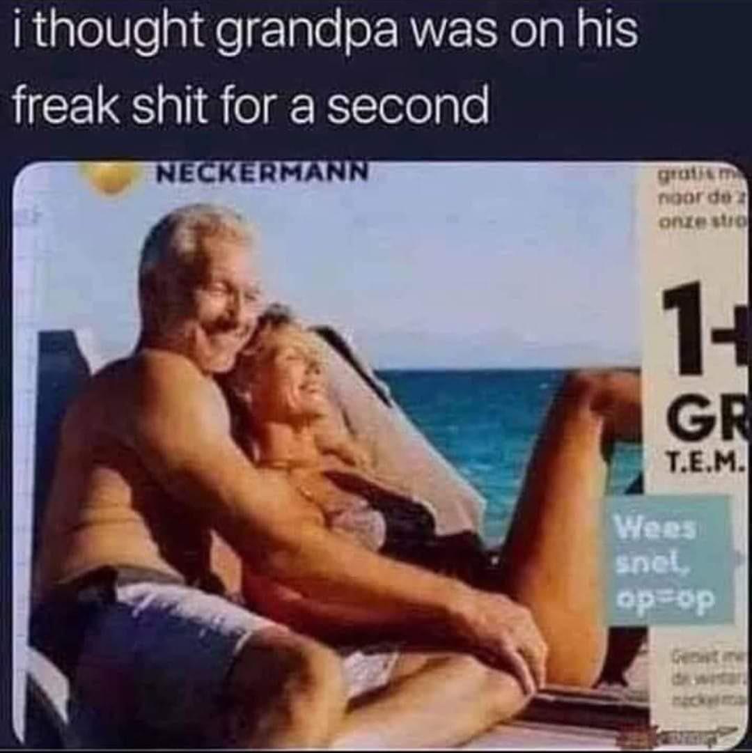 Getting his freak on