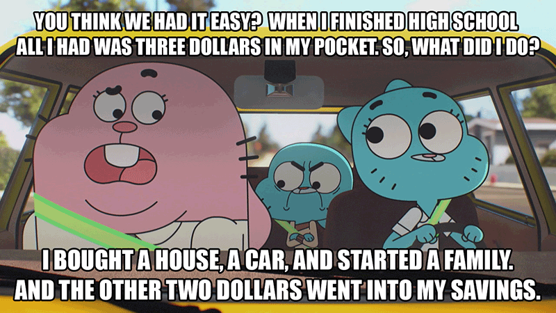 The Amazing World of Gumball gets it.