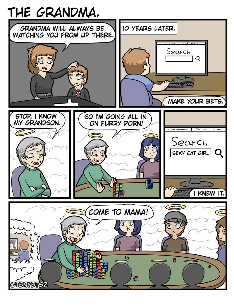 The grandma.