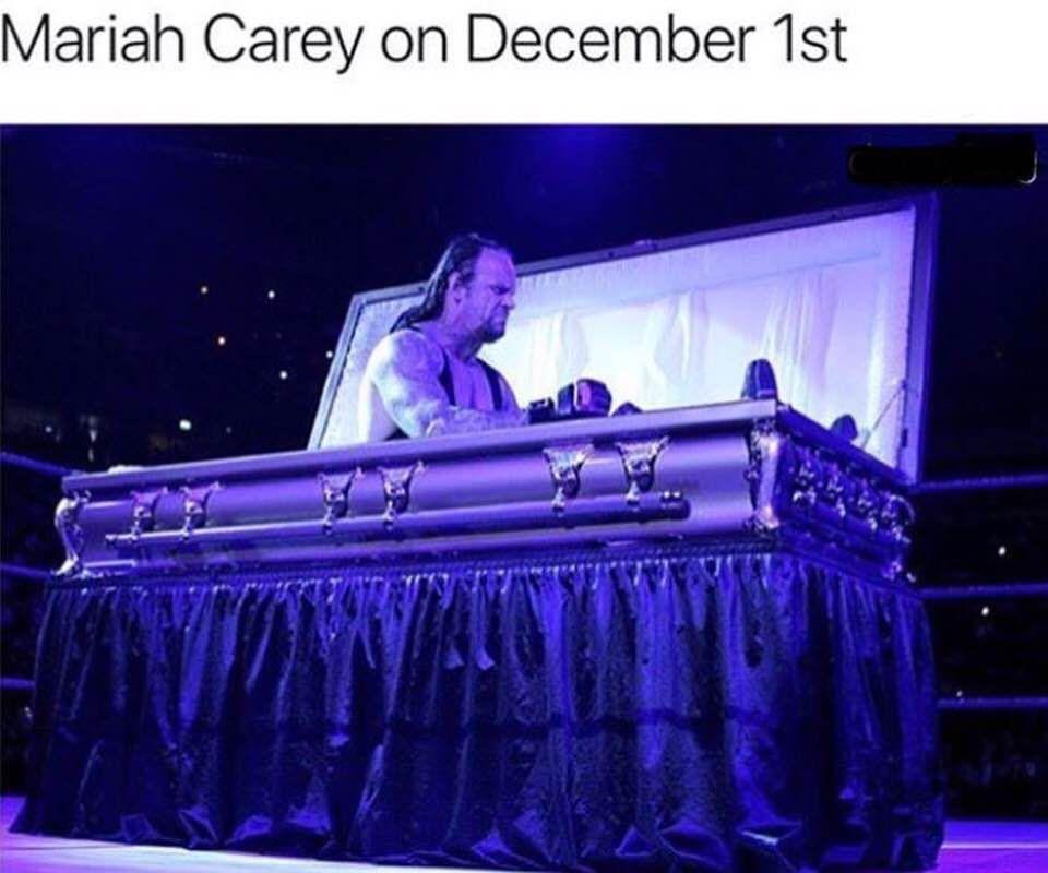 Mariah Carey on December 1st