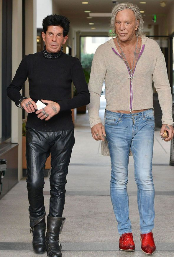 This photo of Mickey Rourke looks like they're prepping for an offbrand Zoolander movie