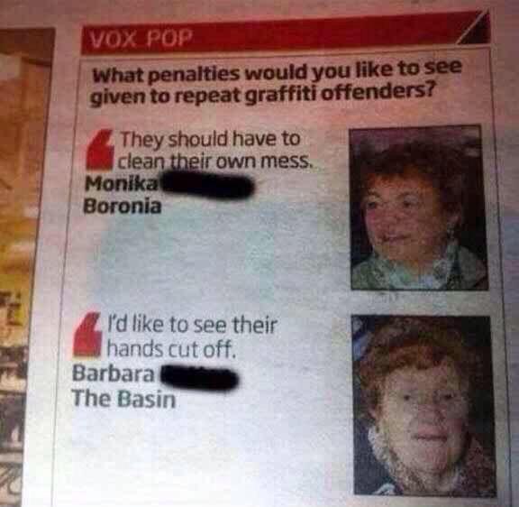 Okay Barbara...