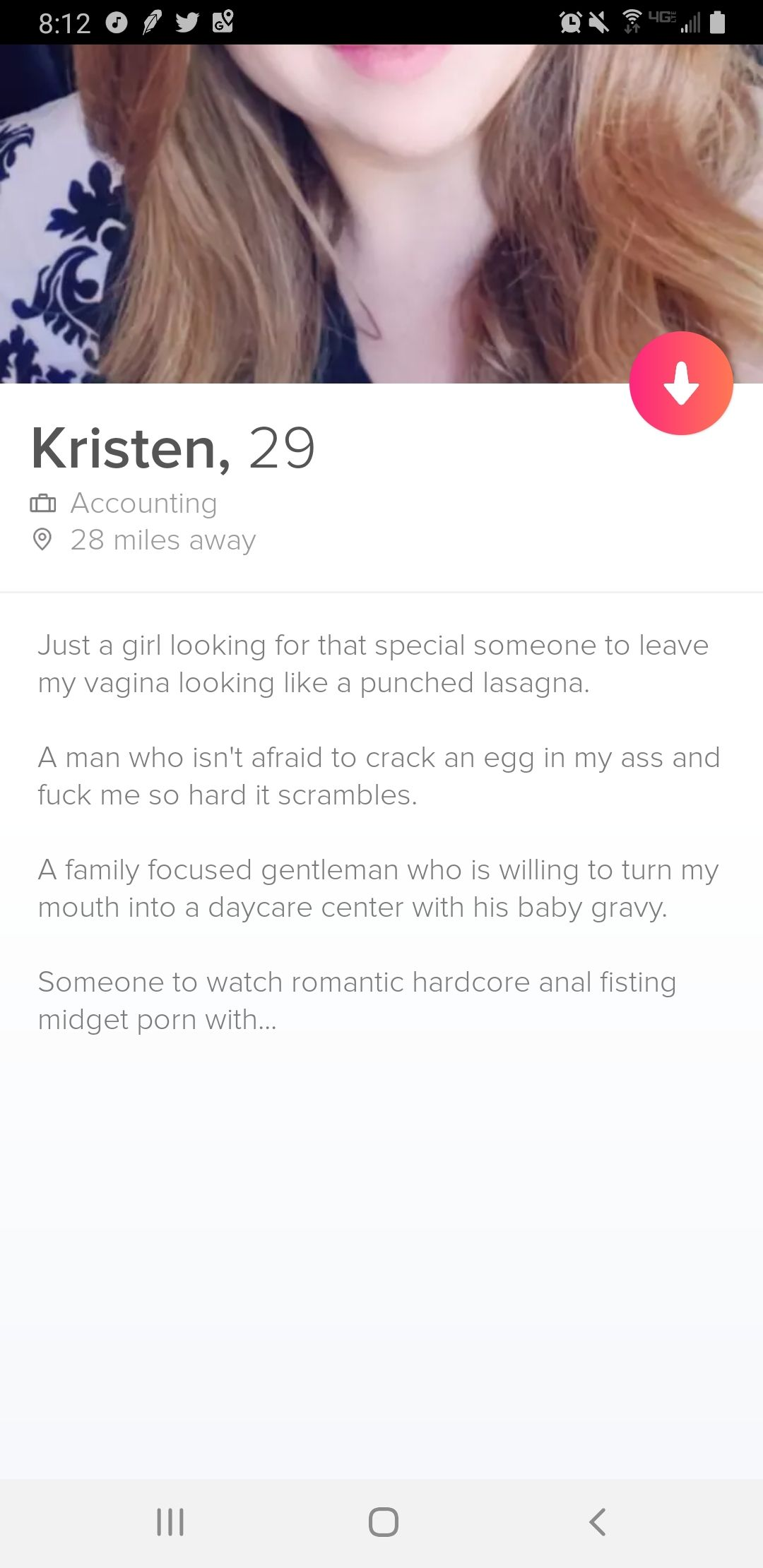 Well at least she knows what she wants