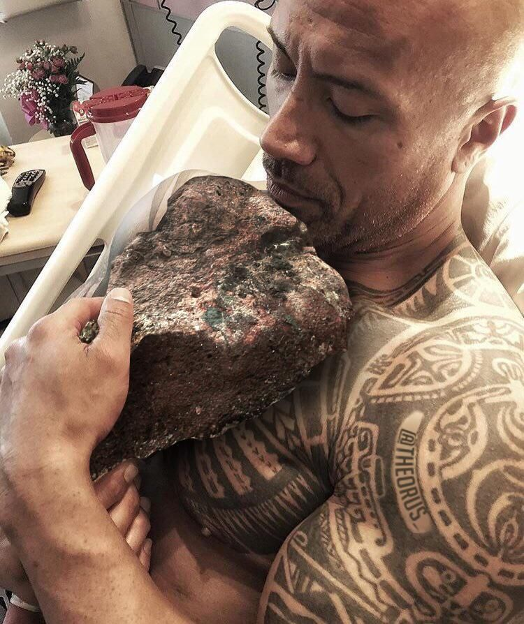 """""""The Rock"""" with his son, """"lil Rock"""""""