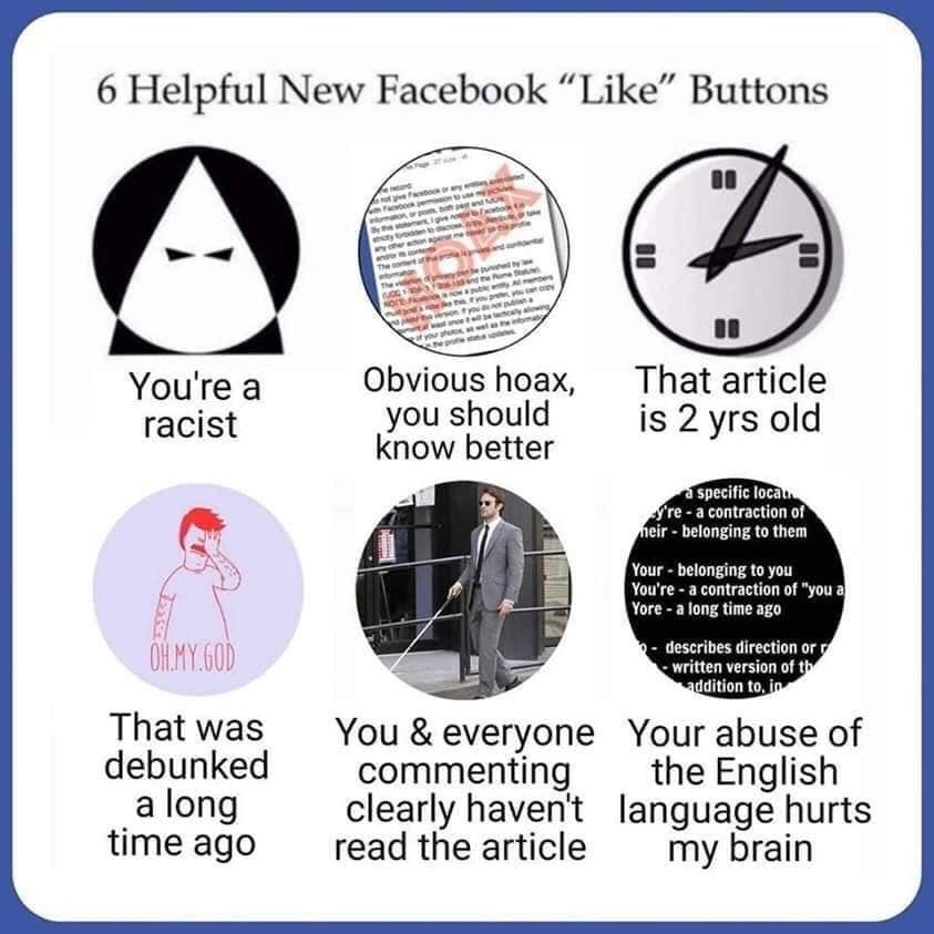 "New Social Media ""Like"" buttons"